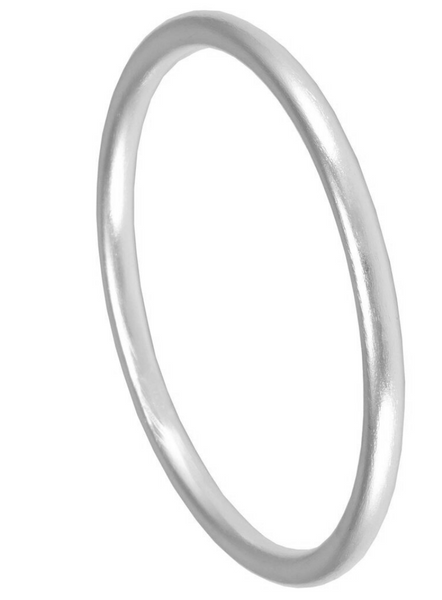 Sheila Fajl Round Bangle in Silver