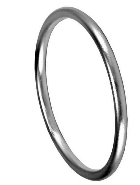Sheila Fajl Round Bangle in Gunmetal