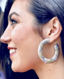 Sheila Fajl Irene Hoops in Burnished Silver