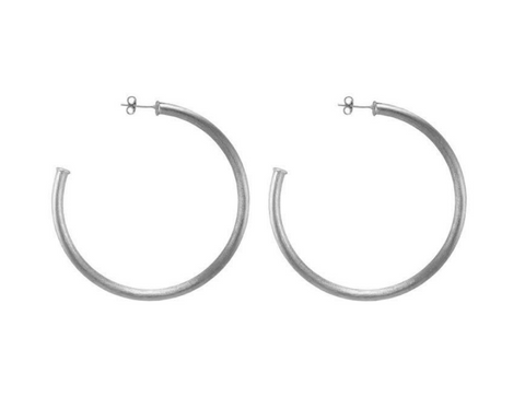 Sheila Fajl Petite Everybody's Favorite Hoop in Brushed Silver