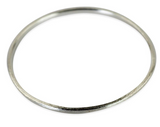 Sheila Fajl Thin Flat Bangle in Silver