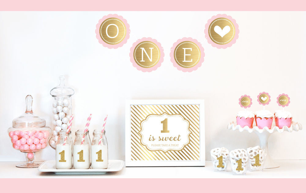 Pink and Gold Princess 1st Birthday Party
