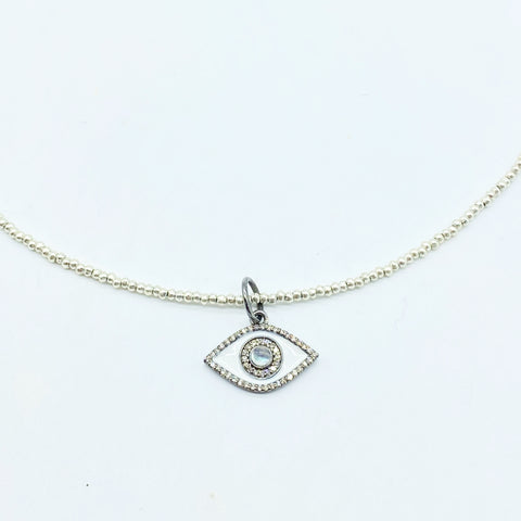 EVIL EYE HILLTRIBE NECKLACE
