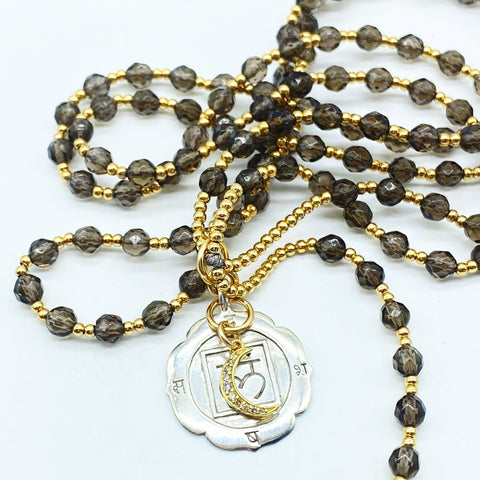 SMOKY QUARTZ TRANSFORMATION & PROTECTION MALA