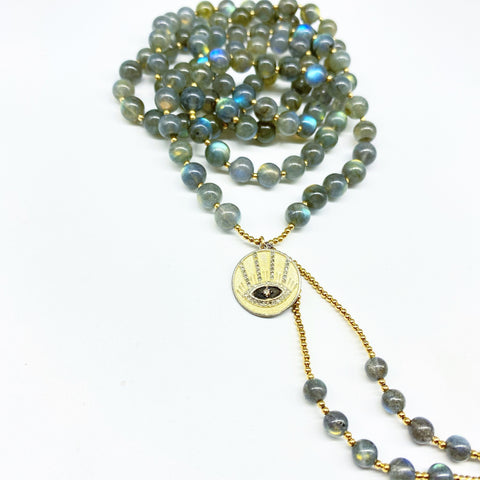 LABRADORITE STRENGTH & TRANSFORMATION MALA