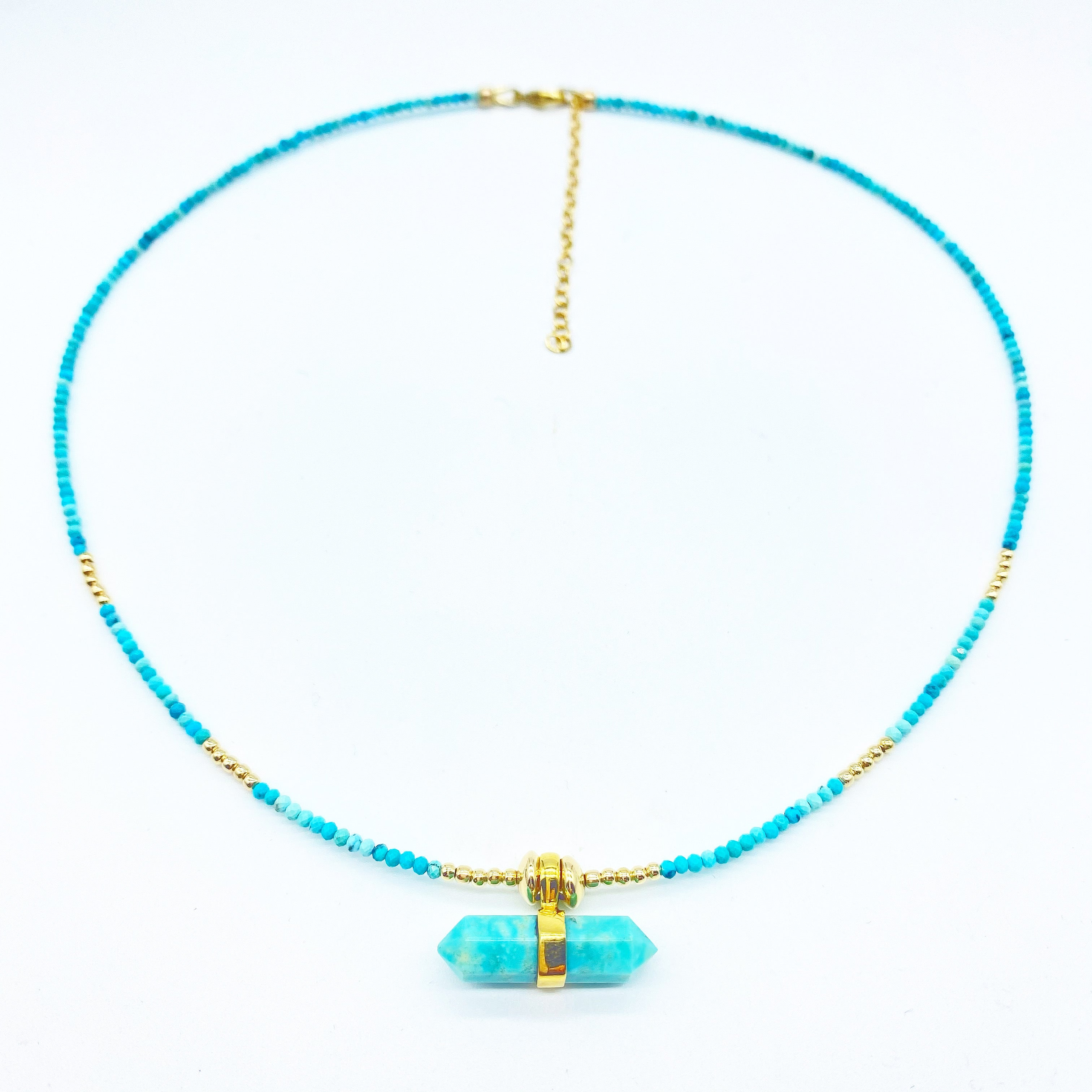 TURQUOISE PROTECTION TALISMAN NECKLACE GIFT WITH PURCHASE