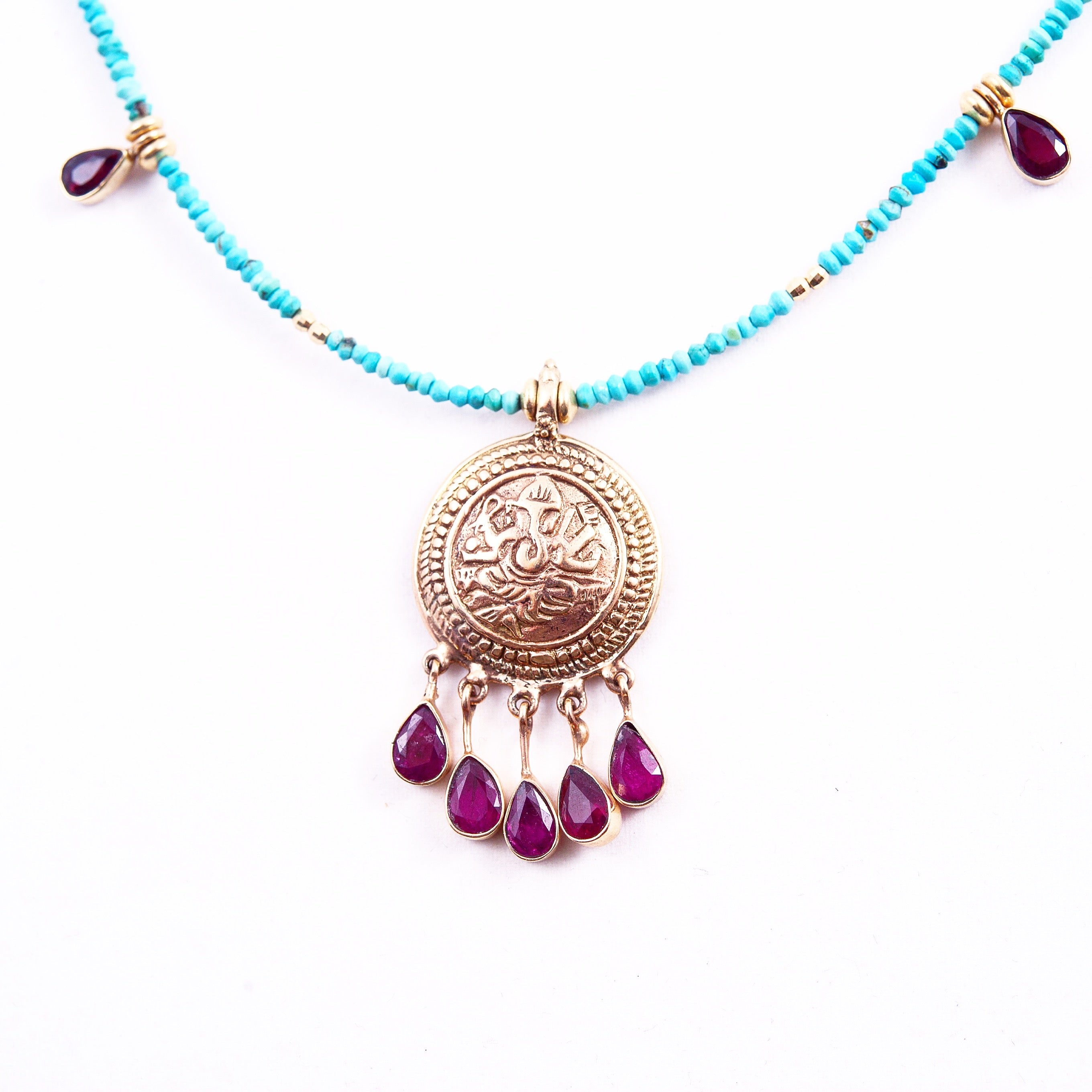 TURQUOISE AMULET COLLECTION. ONE OF  A KIND AMULETS