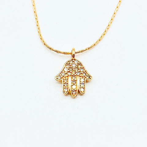 ROSE GOLD DIAMOND HAMSA