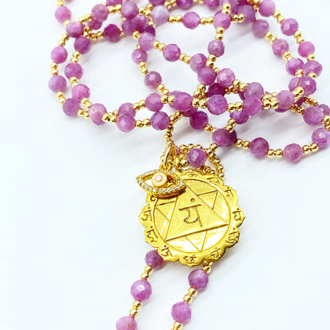 RUBY LIFE FORCE PROTECTION MALA