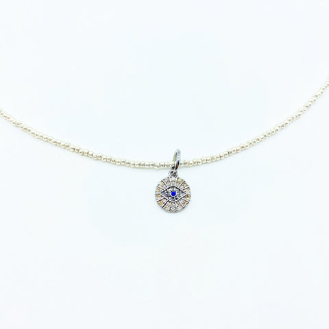 WHITE DIAMOND EVIL EYE