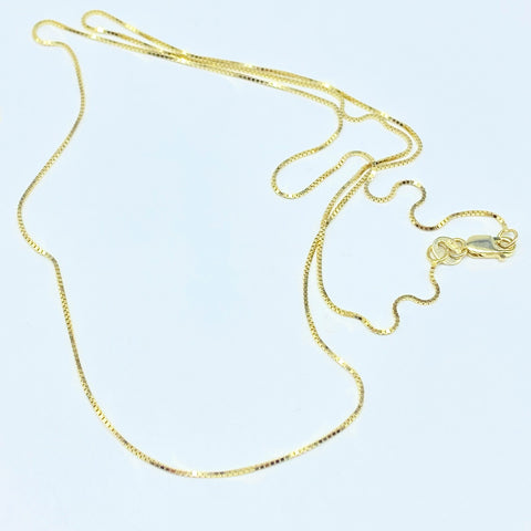solid 10k gold chain 22""