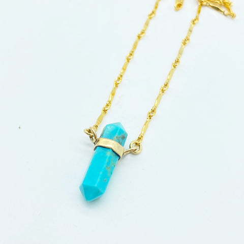TURQUOISE PROTECTION BULLET NECKLACE