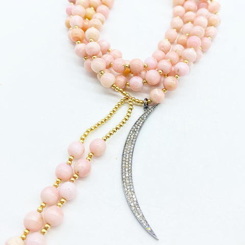 PINK OPAL LIBERATE THE HEART MALA