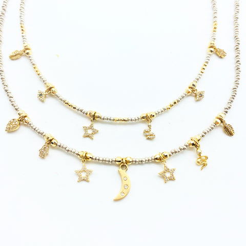 SHAKTI GOLD CHARM NECKLACES