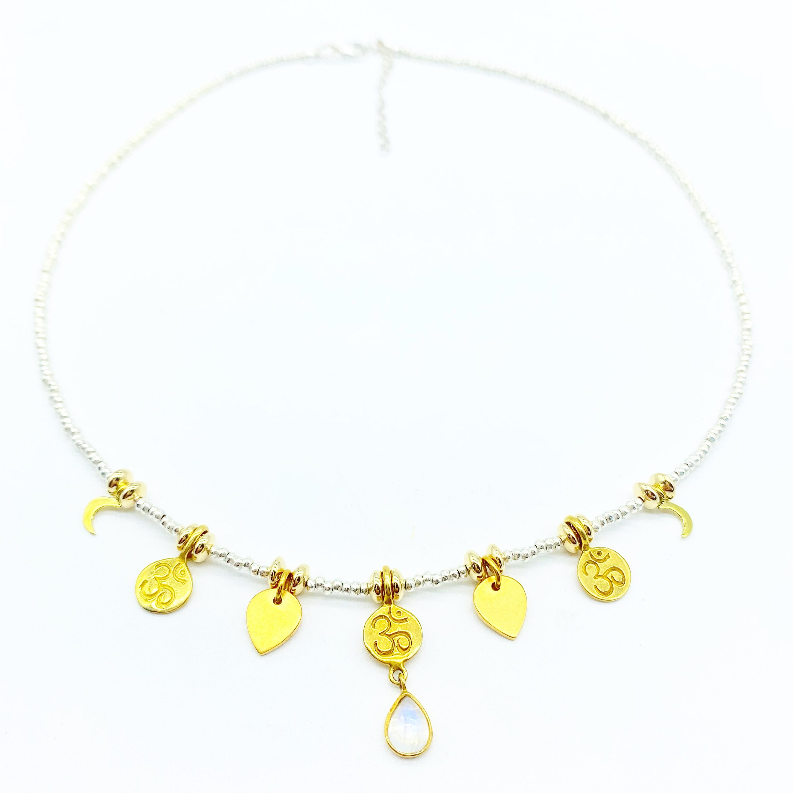 HILLTRIBE OM LOTUS MOON CHARM NECKLACES
