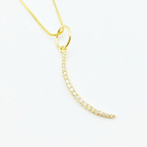 14K GOLD & DIAMOND CRESCENT MOON TRANSFORMATION AMULET