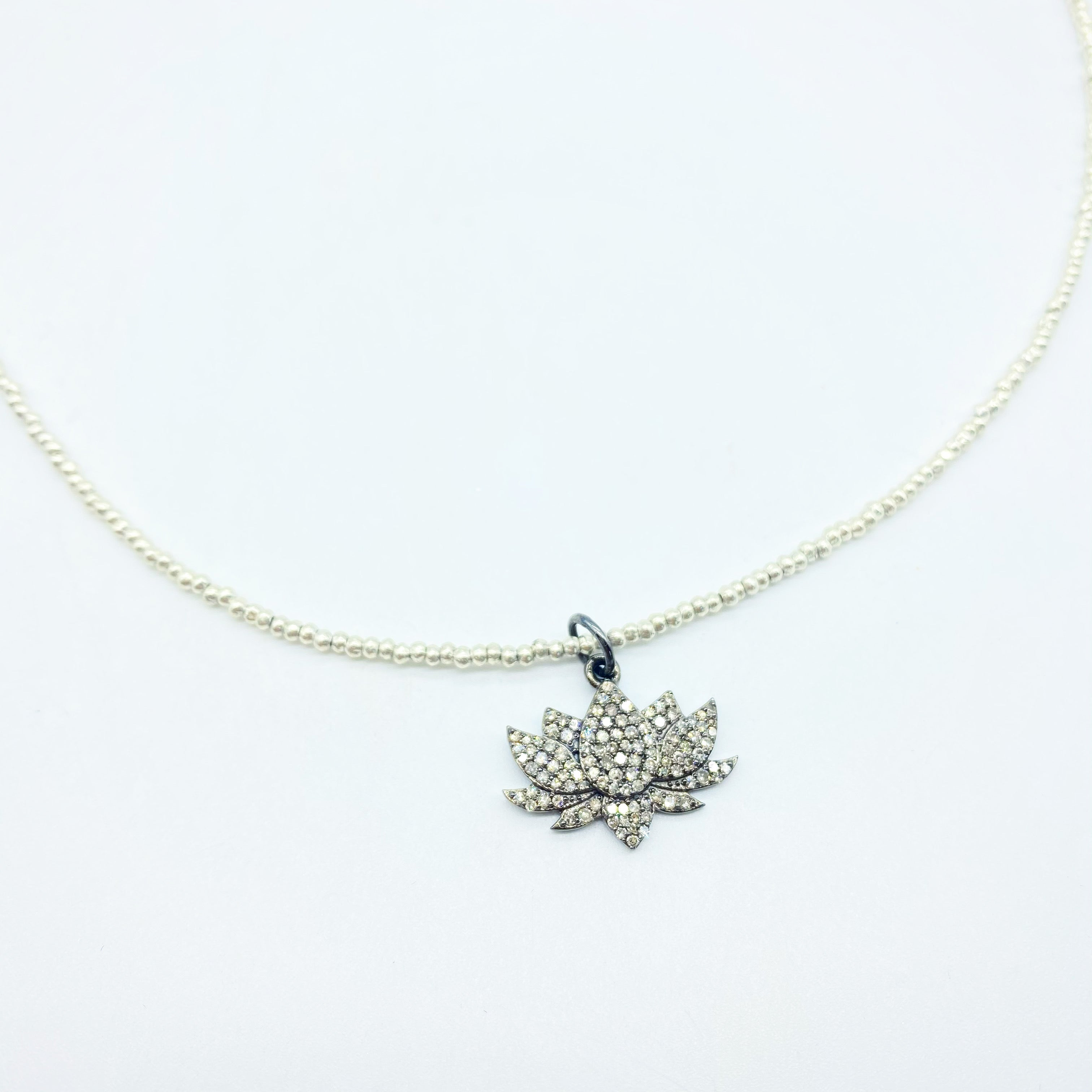 DIAMOND LOTUS FLOWER AMULET