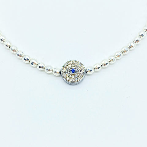 DIAMOND EVIL EYE HILLTRIBE NECKLACE