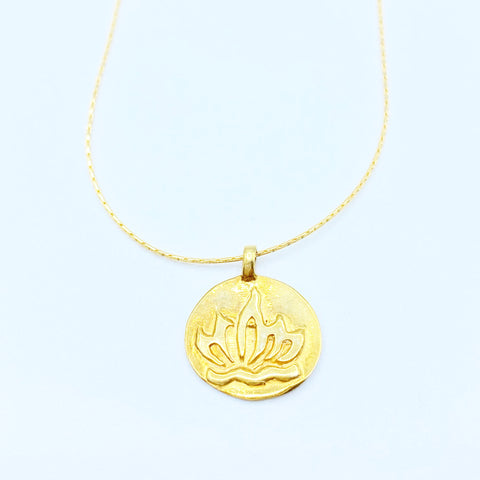 GOLD LOTUS/OM COIN