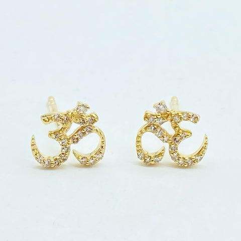 DIAMOND OM EARRINGS