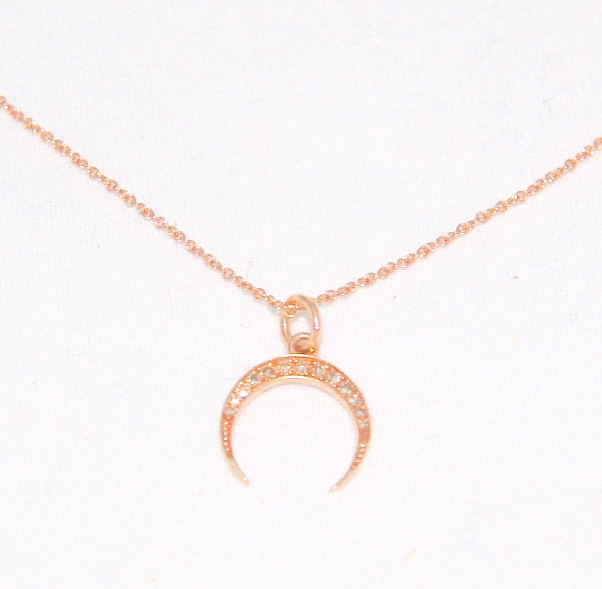 Small Crescent Moon Rose or Yellow Gold