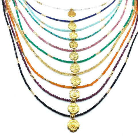 BABY CHAKRA GEMSTONE NECKLACES