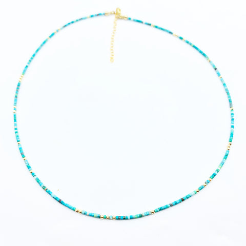 14k gold & Turquoise gemstone stacker