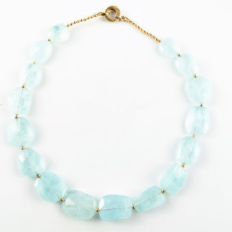 AQUAMARINE SLAB NECKLACE