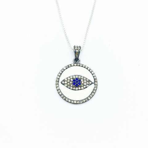 SILVER & DIAMOND EVIL EYE