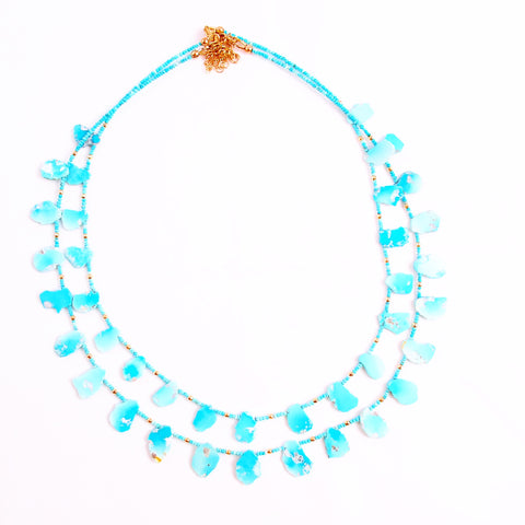 TURQUOISE LOTUS NECKLACE
