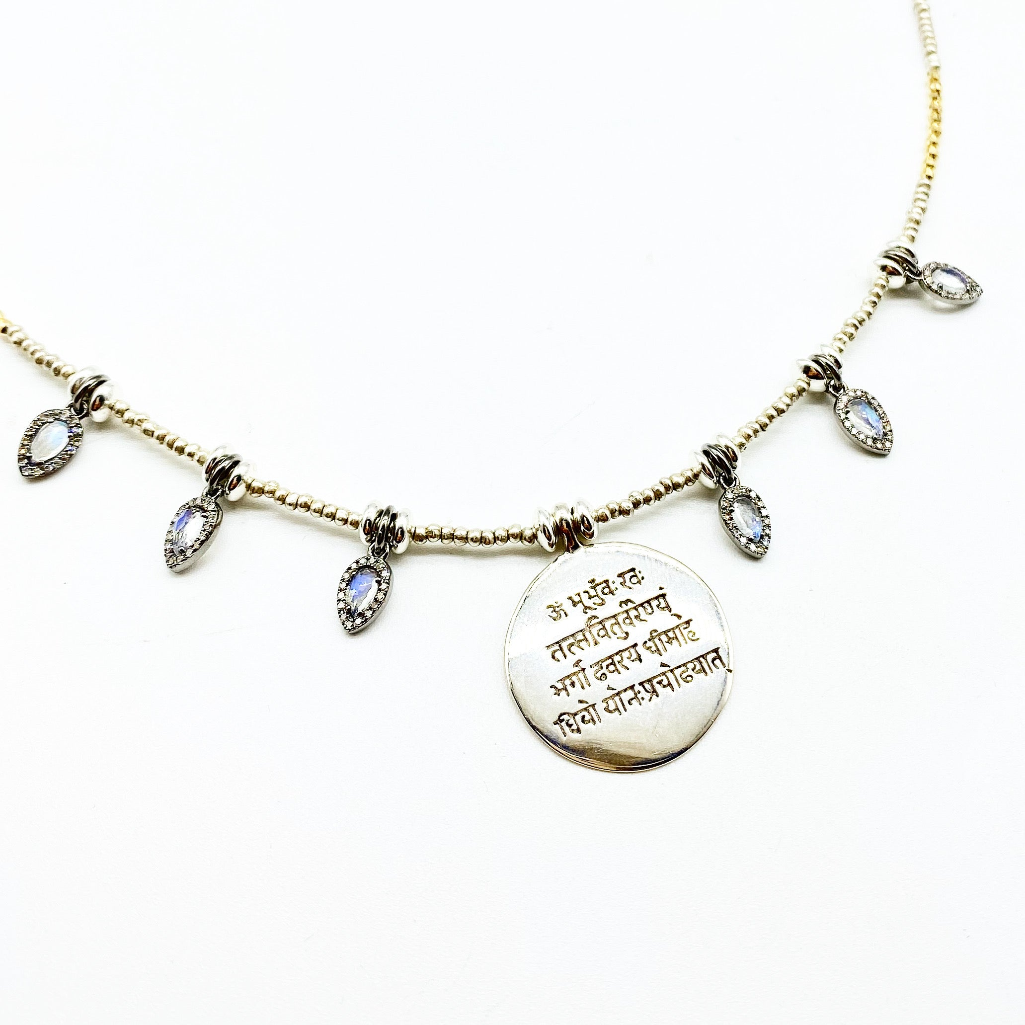 GAYATRI WISDOM MANTRA AMULET NECKLACE