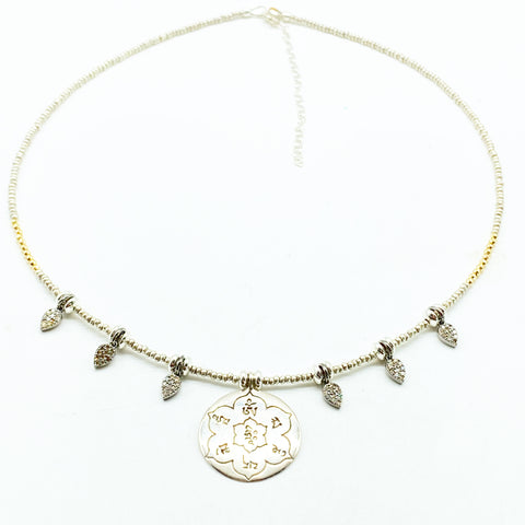 THE JEWEL IS IN THE LOTUS NECKLACE