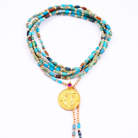 TURQUOISE PROTECTION AMULET
