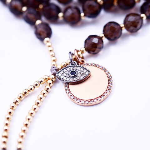 SMOKY QUARTZ PROTECTION MALA