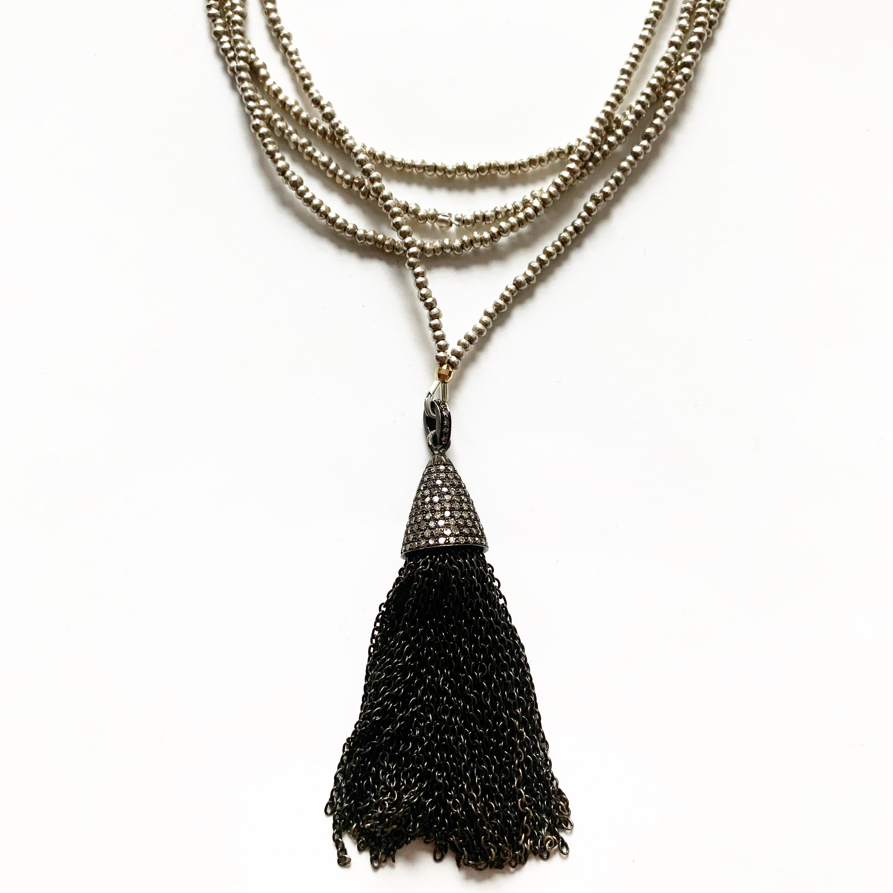 DIAMOND TASSEL HILLTRIBE NECKLACE