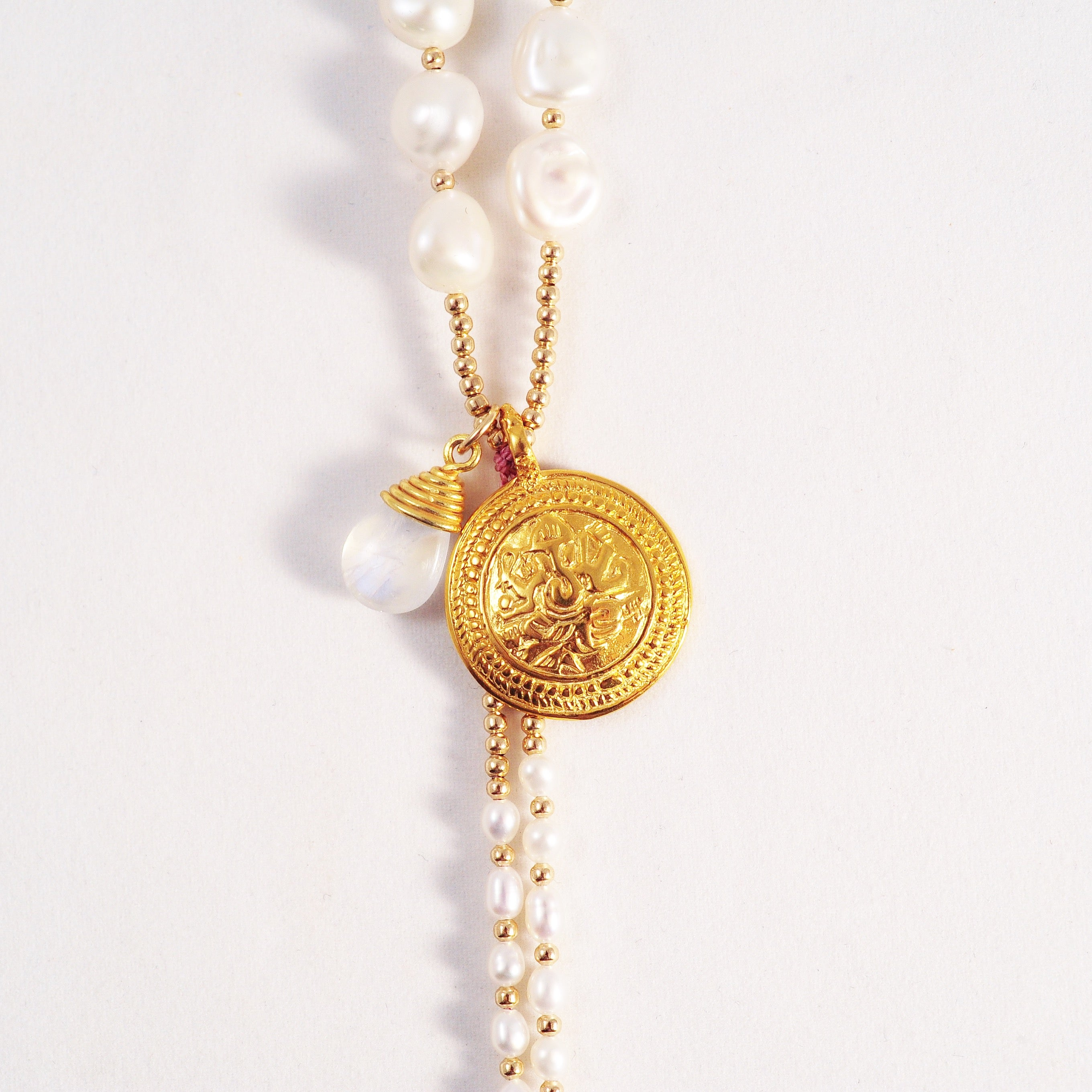 LARGE PEARL AMULET NECKLACES