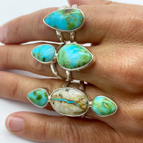 TURQUOISE RINGS. ONE OF A KIND.