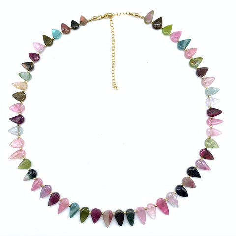 TOURMALINE LOTUS PETAL NECKLACE