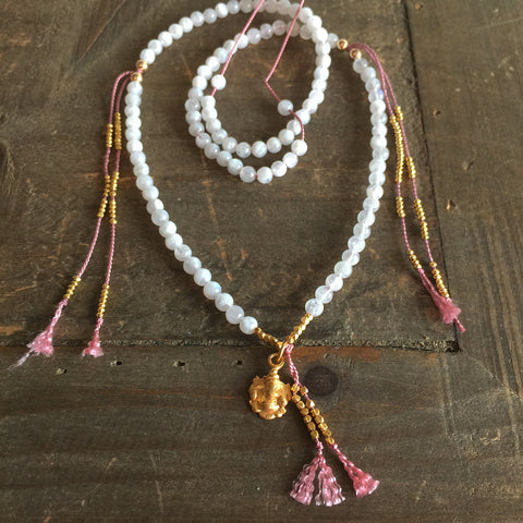 The INWARD JOURNEY MOONSTONE MALA