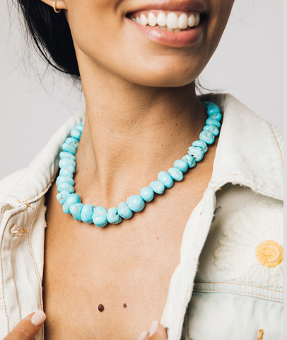 TURQUOISE BLUEBIRD NECKLACE