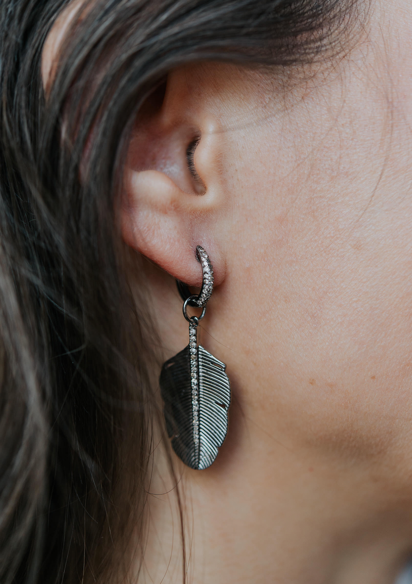 FREEDOM FEATHER EARRING