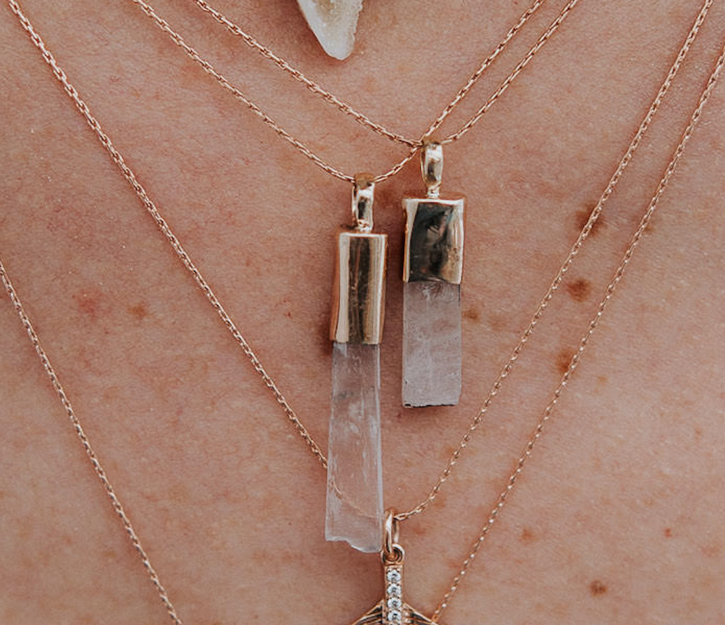 KUNZITE CRYSTAL AMULETS (Necklace or Earrings)