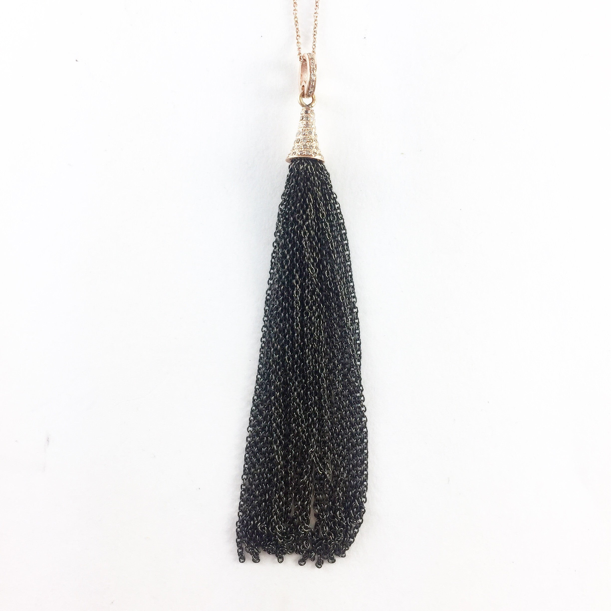 ROSE GOLD & DIAMOND TASSEL