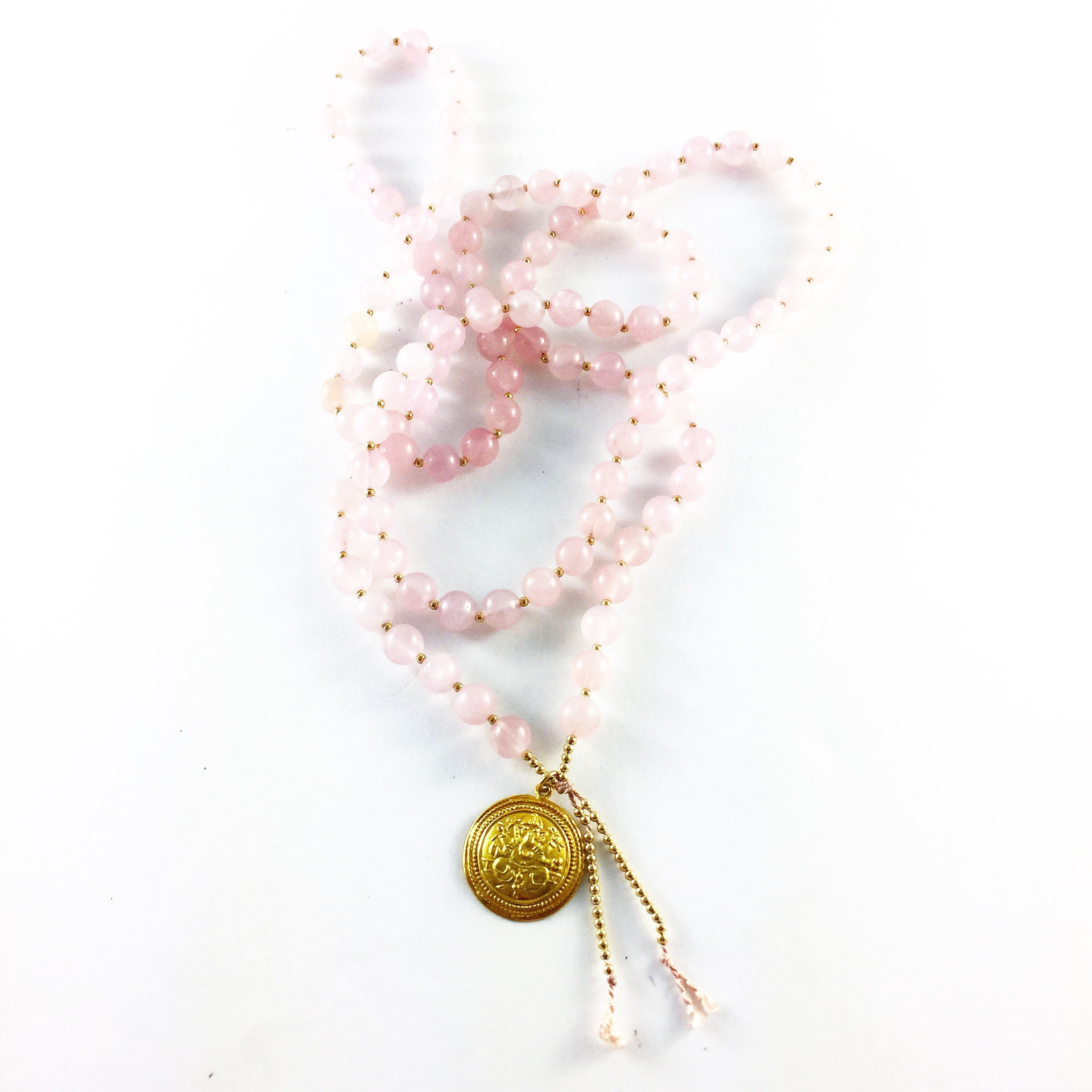The HEART CHAKRA MALA...ROSE QUARTZ