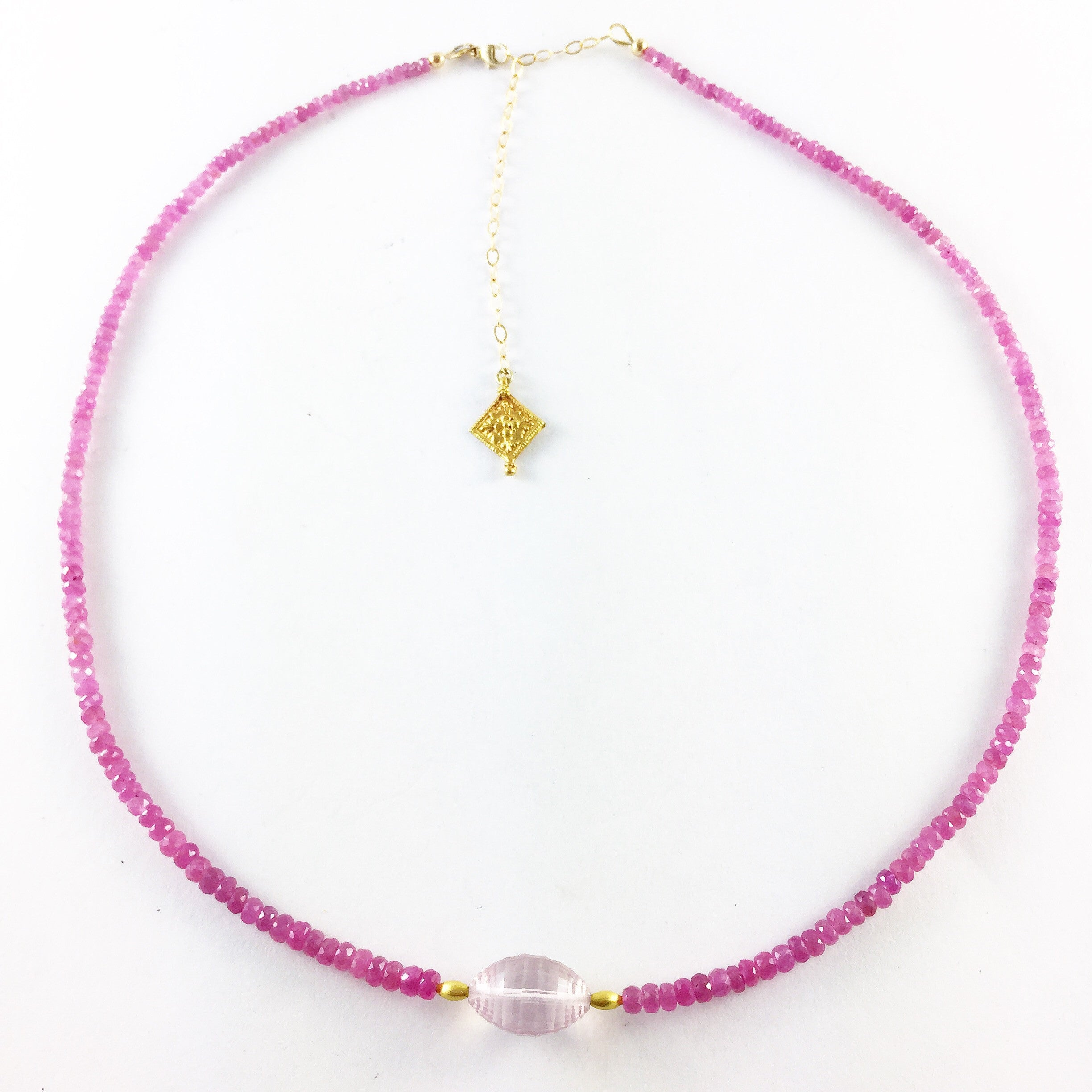 PINK SAPPHIRE NECKLACE. THE HEART CHAKRA