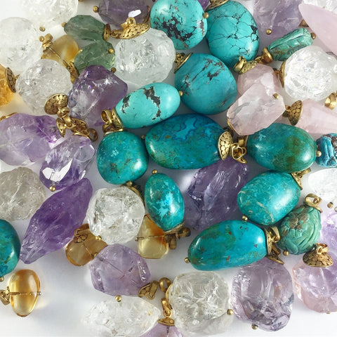 GEMSTONE AMULET NECKLACES...choose your GEMSTONE