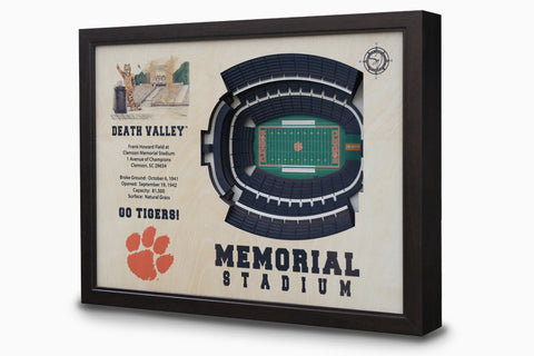 Clemson Tigers -  Stadium - 3D Art