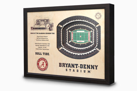 Alabama Crimson Tide -  Stadium - 3D Art