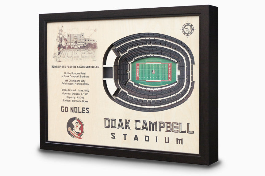 Florida State Seminoles -  Stadium - 3D Art