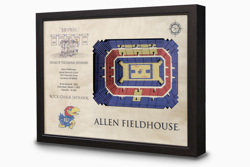 Kansas Jayhawks -  Stadium - 3D Art